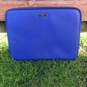 """kate spade Accessories - Kate Spade 13"""" Blue Used Laptop Case"""